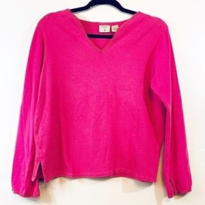 Mountain lake V-Neck Cotton Pull over Sweater